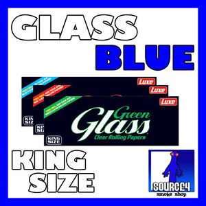 GLASS-BLUE-COLORED-Clear-Cellulose-KS-ROLLING-PAPERS