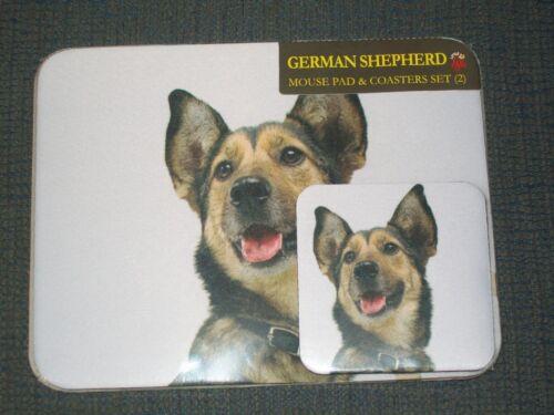 German Shepherd Dog Little Gifts Mousepad /& 2 Two Coasters Sealed Set