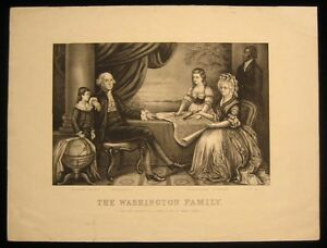 Original-Currier-amp-Ives-Print-Washington-Family-w-Wily