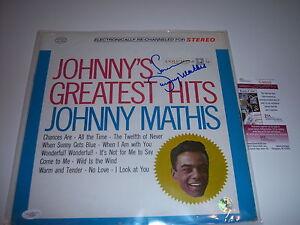 JOHNNY-MATHIS-JOHNNYS-GREATEST-HITS-JSA-COA-SIGNED-LP-RECORD-ALBUM