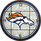 The Memory Company Denver Broncos 12in Glass Wall Clock - NFLDBR274