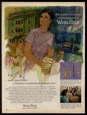 1967 Wurlitzer musical instruments Disneyland store artwork vintage print ad