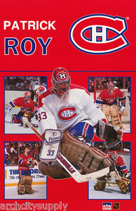 POSTER-NHL-HOCKEY-PATRICK-ROY-MONTREAL-CANADIANS-FREE-SHIPPING-RW13-S