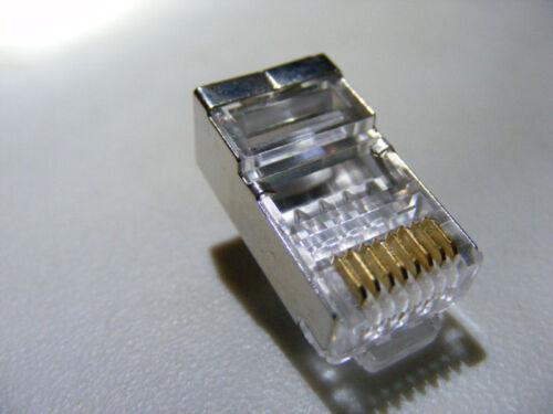 shielded rj45 cat 6 plugs connectors cat 5 sheilded