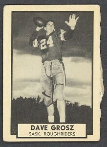 1962-TOPPS-CFL-FOOTBALL-124-DAVE-GROSZ-SASKATCHEWAN-ROUGHRIDERS-NM