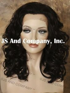 Heat-Resistant-Curly-Wavy-Lace-Front-Wig-Medium-Length-Dark-Brown-14-034-long-hair
