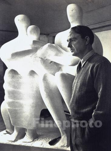 1949/67 Vintage HENRY MOORE ~ Sculpture Artist England Photo Art By YOUSUF KARSH