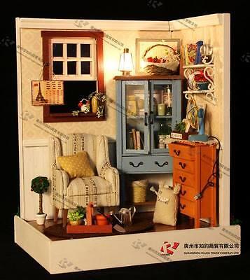 DIY Wooden Dollhouse Miniature Kits Lodge town Series: DAWN SONG Great Kits NEW