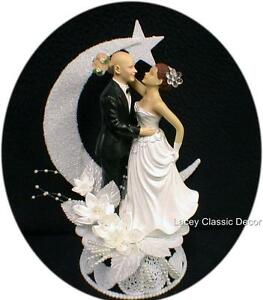 wedding cake toppers bald groom bald groom auburn hair wedding cake topper ebay 26387