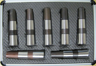 RDGTOOLS 7PC 2MT COLLET SET IMPERIAL WITH MERIC DRAWBAR FOR BOXFORD