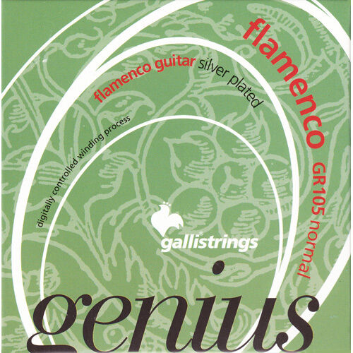 normal tension Saiten für Flamencogitarre Galli Genius Flamenco GR105