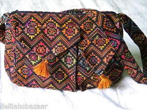 Shoulder-Handbag-Tote-Bag-Sling-Ethnic-Woven-Fabric-Anter-Washable-Israel-EB4-El