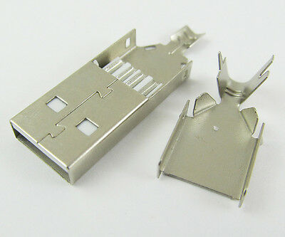 1pc USB 4 Pin Plug Male Socket Connector, for PC Use