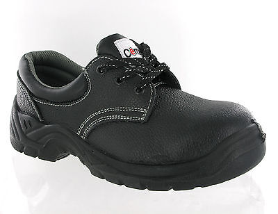 New Mens Centek Black Steel Toe Cap Safety Leather Work Formal Shoes Size 3-12