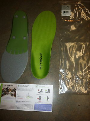 SUPERFEET GREEN INSOLES ORTHOTIC ARCH SUPPORT SIZE B