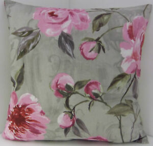 SHABBY-CHIC-STYLE-LARGE-PINK-ROSE-FLORAL-CUSHION-COVERS