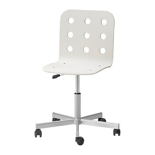 Ikea Swivel Chair White / Silver Home Office New