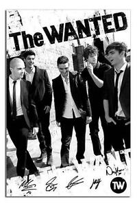 The-Wanted-Black-amp-White-Large-Wall-Poster-New