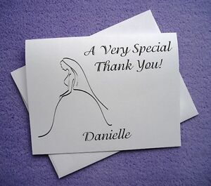 30 Personalized Custom Bride Bridal Shower Wedding Thank You Note Cards EBay