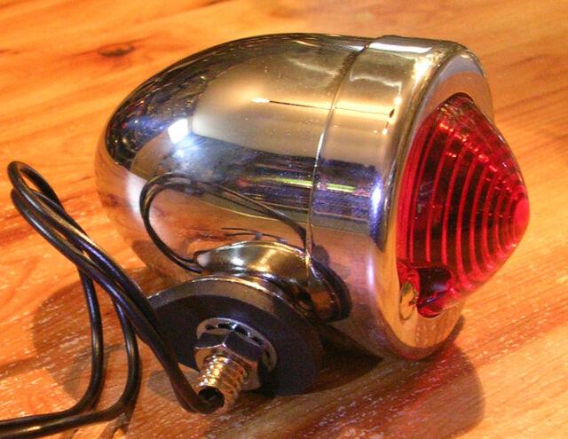 feu phare arriere chrome moto chrome custom bobber chopper bullet markerlight