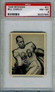 1948-Bowman-21-Bill-Chipley-Rookie-PSA-8-NM-MT-Boston-Yanks-Key-Short-Print