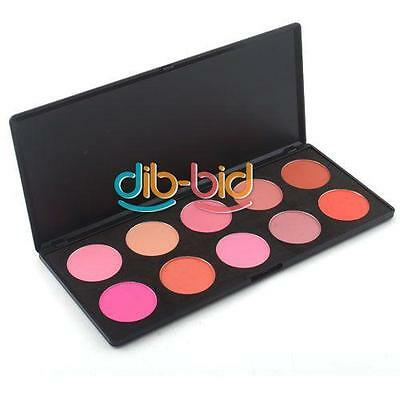 10 Color Professional Beauty Makeup Cosmetic Blush Blusher Powder Palette