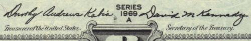 $1 1969-A Kabis Kennedy Non Star Type Note CHCU