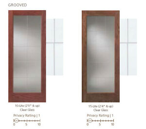 10 15 lite v grooved contemporary glass decorative for Decorative window glass types