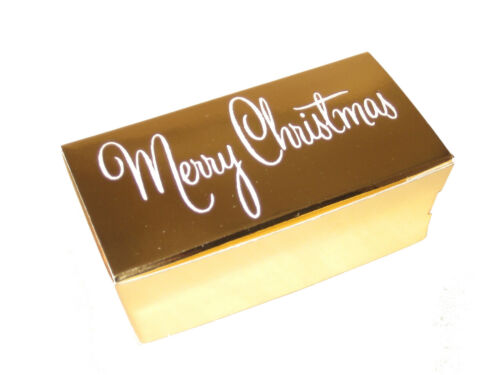 Wedding Favours Pack of 50 x 2 Truffle Ballotin Boxes Plain or Merry Christmas