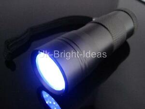 QUALITY-ALUMINIUM-UV-TORCH-FLASHLIGHT-LIGHT-FORENSICS-CSI-DETECTION-BLOOD-URINE