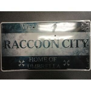 Resident-Evil-Welcome-to-Raccoon-City-Plaque-Sign-Exclusive-Metal-Rare-New