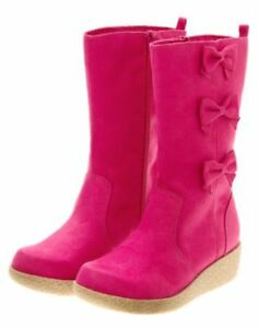 NWT-Gymboree-Panda-Academy-Pink-Suede-Boots-Size-6-10-11-12-1-2-3