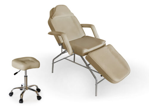 Portable Dental Chair + Stool Package (Cream Ivory)