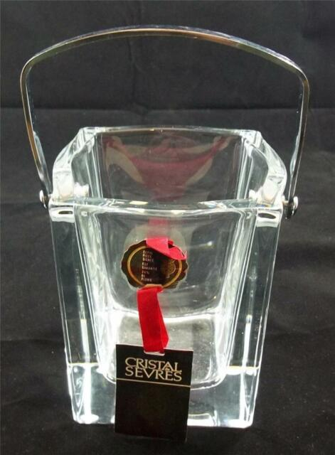 Crystal Sevres France Ice Bucket MINT UNUSED labelled and etched