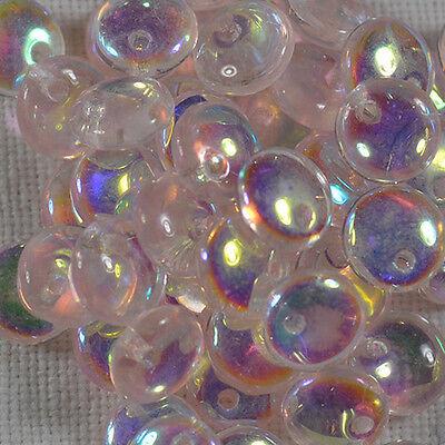 (50) Czech 6mm Glass Lentil - Rosaline AB