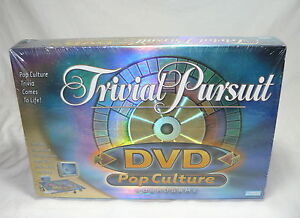 TRIVIAL PURSUIT DVD POP CULTURE BOARD GAME – PARKER BROTHERS - NEW - SEALED
