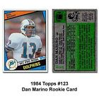 Topps Miami Dolphins Dan Marino 1984 Rookie Trading Card