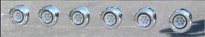 """2"""" Clear Red LED Clearance Marker Light (7 Diodes)"""