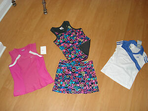 Nike-OR-Adidas-Girls-Tennis-Shirt-OR-Skort-Many-Styles-and-Colors-MSRP-32-35