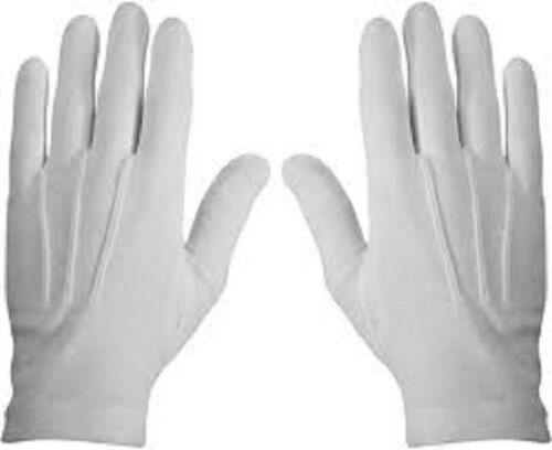 5//10 Pair Mens White Formal Gloves Tuxedo Honor Guard Parade Santa Inspection US