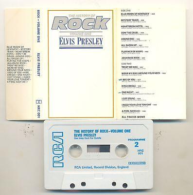 ELVIS PRESLEY-HISTORY OF ROCK VOLUME 1-UK CASSETTE 1981