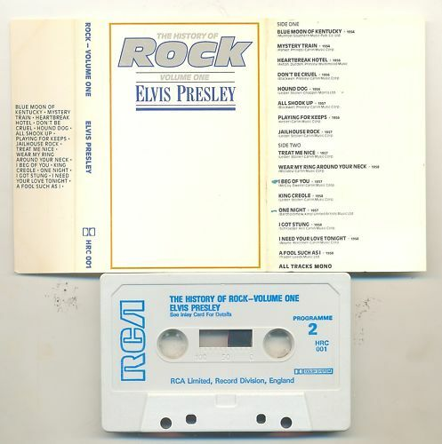 ELVIS PRESLEY-HISTORY OF ROCK VOLUME 1-UK CASSETTE 1981