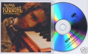 BEN-FOLDS-You-Don-039-t-Know-Me-UK-2-trk-promo-CD-Regina-Spektor