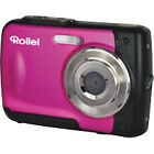 Rollei Sportsline 60 5.0MP Digitalkamera - Rosa (Kit mit 8.5mm Objektiv)