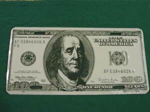 100 dollar bill metal license plate sign car tag l001 ebay