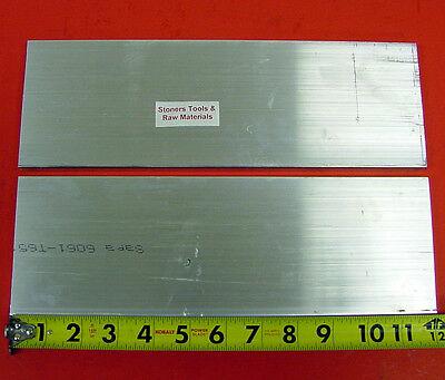 "2 Pieces 1/2"" X 4"" ALUMINUM 6061 T6511 FLAT BAR 12"" long Plate Mill Stock .50"""
