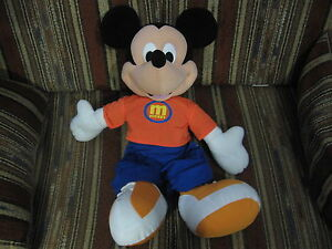 """24"""" plush Mickey Mouse doll, by Fisher Price, good condition"""