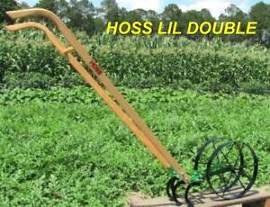 ... Hoss Lil Double Wheel Hoe Push Plow Garden