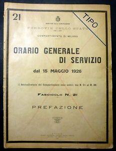Ferrovie-Prefazione-Orario-Generale-Servizio-Istruzioni-Indicazioni-Linee-1926