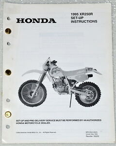 1995-HONDA-XR250R-XR250-XR-250R-MOTORCYCLE-Original-Set-up-Instructions-Manual
